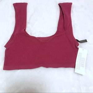 Urban Outfitters Seamless Cap Sleeve Bra Top